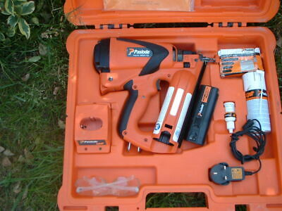 PASLODE IM65 F16 angled CORDLESS GAS NAIL GUN,  FULLY CLEANED & SERVICED  77