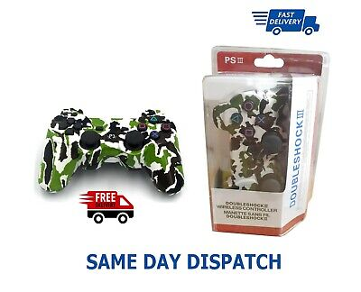 Ps3 Dual Shock 3 wireless Controller Army Green Camouflage