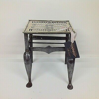 Antique Georgian Brass and Cast Steel Footman Fireside Trivet Stand Vintage