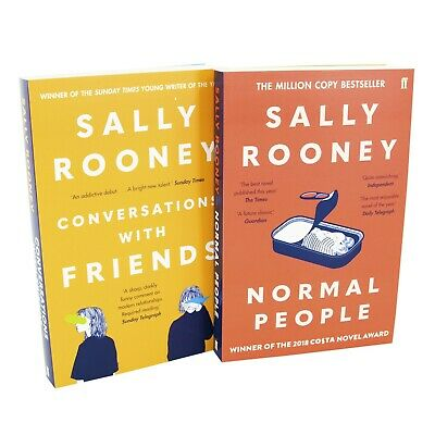 Sally Rooney 2 Books Adult Collection Paperback Set Normal People ,Conversations