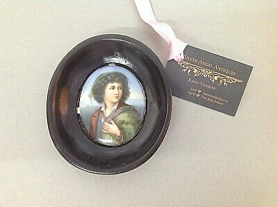 LATE 19th / EARLY 20th CENTURY PORTRAIT MINIATURE PAINTED ON PORCELAIN PANEL
