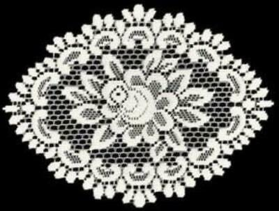 Heritage Lace Rose Collection - Doilies, Table Toppers, Tablecloths, Ecru White