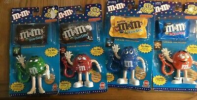 M&M's  set of 4 Clip Alongs Candy Dispensers NIP