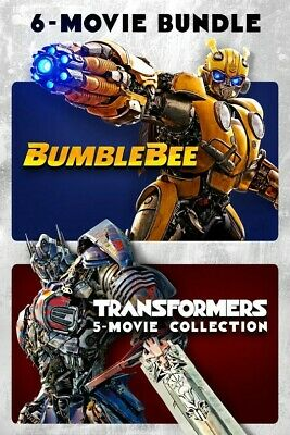Transformers & Bumblebee 6-Movie Collection (2019) VUDU INSTAWATCH DIGITAL ONLY