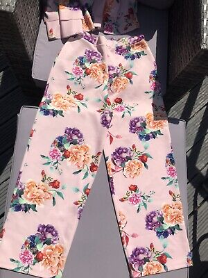 Girl's River Island Wide Legged Trouser And Crop Top Set Age 11-12 Years