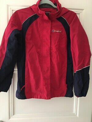 Girls Berghaus Full Zip Waterproof Hooded Windcheater Jacket Age 13 Years
