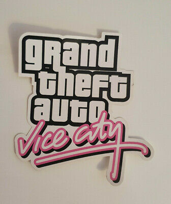 Grand Theft Auto Vice City GTA Rockstar Aufkleber Sticker IV V Rare selten New