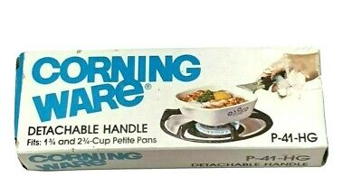 Vintage New Corning Ware Petite Pan Detachable/Lock On Handle P-41-HG In Box