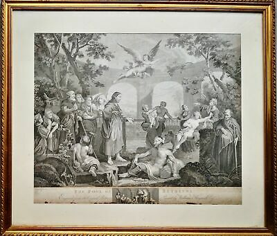 Thomas cook, 1802, grande incisone da William Hogarth 66x56 cm