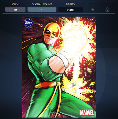 Topps Marvel Collect - Weekly Topps Original Art - IRON FIST *Digital