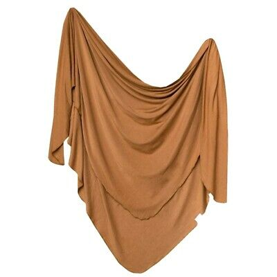 """NEW Large Premium Knit Baby Swaddle Receiving Blanket """"Camel"""" by Copper Pearl"""
