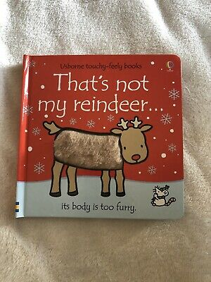 NEW That Not My Reindeer Book Hardback Usborne Touchy-feely Christmas Collection
