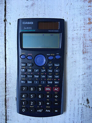 Casio Fx-85ES Solar Cell And Battery Power Calculator