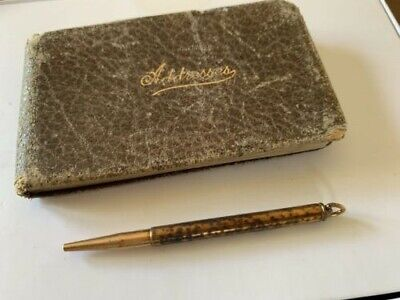 Vintage Mini Address and Telephone Book with Pencil Used
