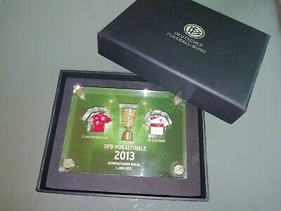 DFB Pokal Pin Collection in Acryl Finale 2013 VfB Stuttgart - FC Bayern München