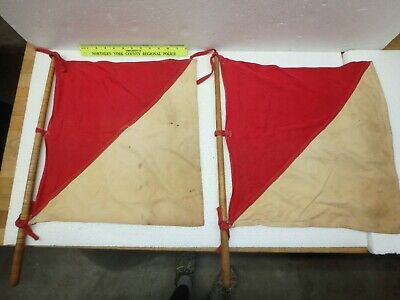 Collectible Pair of Signal Flags - Maritime or Nautical?