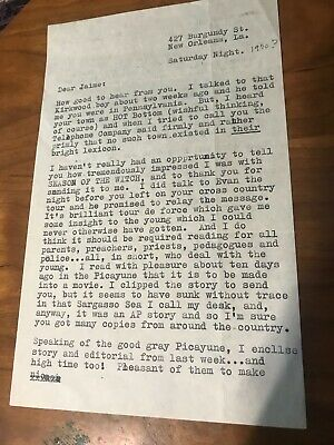 "Clay Shaw typed letter signed ""Clay"" after ""most of the pressure gone"""