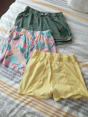 "Girls 3 x Shorts Age 13 Years(waist 28"").2 matalan,1 Harry Potter(Slytherin)"