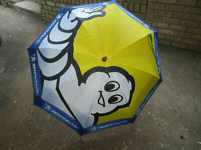 Michelin Man Blue/White/Yellow Umbrella