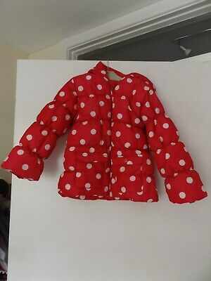 F&F spotty hooded coat / jacket aged 5-6 Years