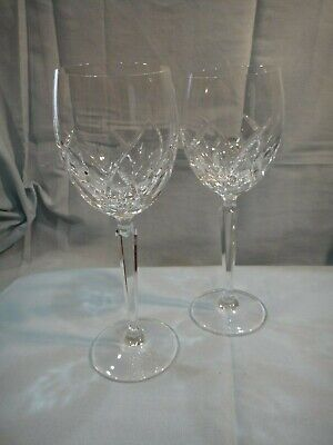 "Pair of Waterford Water Goblets LUCERNE 8"" tall Old Script Mark"