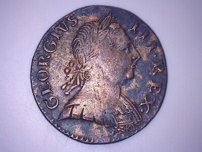 Great Britain. Copper 1/2 Penny, 1774. King George Iii.
