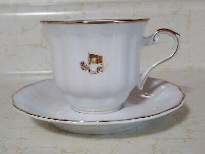 Rms Titanic Cup & Saucer - White Star Line - Mint Repro 1998