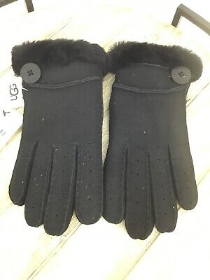 $155 UGG Women's Genuine Dyed Shearling Bailey Glove In Black Size L