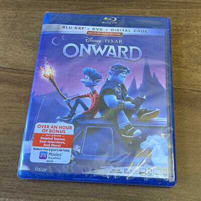 Disney Pixar Onward (Blu-ray + DVD + Digital; 2020) BRAND NEW SEALED