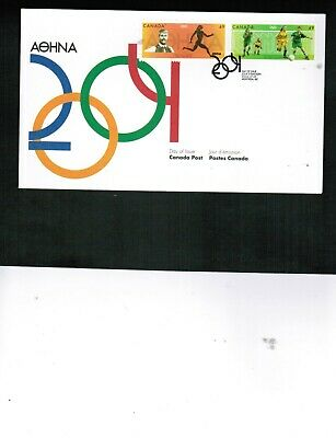 CANADA 2004  49c OLYMPIC GAMES -ATHENS se-ten  FDC  MNH  #2049-50 BOX 548