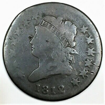 1812 Classic Head Large Cent Beautiful Coin Rare Date