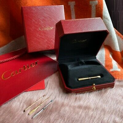 Cartier Authentic Love Bracelet Box + Screwdriver + Gift Bag + Outer Box +Sleeve