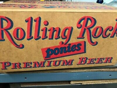 Vintage Rolling Rock Wax Beer Crate Box - 1960s - Good Condition - FREE SHIPPING
