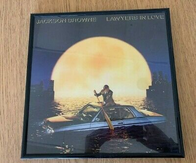 Jackson Browne  Framed Record Lp Album,  Lawyers In Love, 1983, No Record