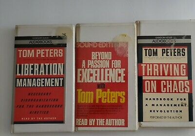 Tom Peter's lot of 3.Thriving on Chaos, Liberation Mngmt, Beyond A passion 4 exc