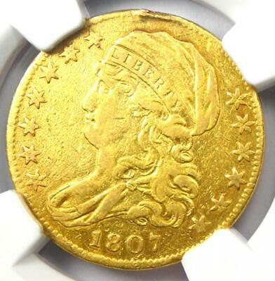 1807 Capped Bust Gold Half Eagle $5 - Certified NGC XF Details - Rare Gold Coin!