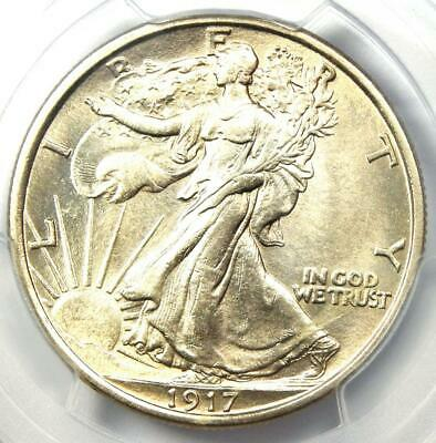 1917 Walking Liberty Half Dollar 50C Coin - PCGS Uncirculated Details (UNC MS)