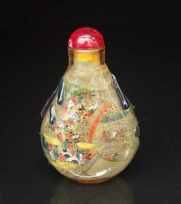 Chinese old peking Glass Handmade Inside painting Exquisite Snuff Bottles 014