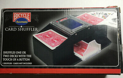 Bicycle 1-2 Deck Card Shuffler (Cards And Battery NOT Included) Open Box