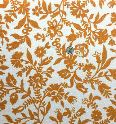 """Vintage Full Feed Sack Lovely Small Golden Brown Floral  on White  41"""" x 37"""""""