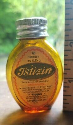 Tstizin Amber Bayer Original Label and embossed Lid And Embossed