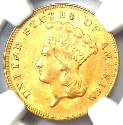 1878 Three Dollar Indian Gold Coin $3 - NGC Uncirculated Detail (UNC MS) - Rare!