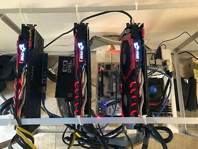 Prebuilt Etherium Mining Rig, Barely Used, Topnotch Hardware Msi/Evga/Intel/Team