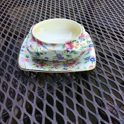 Royal Winton Old Cottage Chintz Jam Bowl And Under Plate
