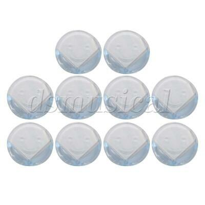 10pcs Round-type Cute Corner Clear Cushion Pad Guards Safety Protection