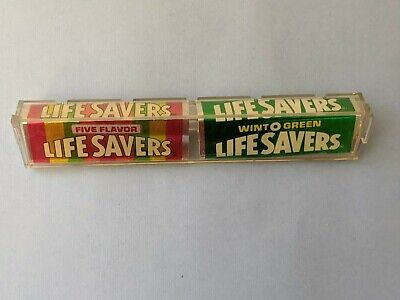 Antique LIFE SAVERS CANDY Store Advertising Display Plastic cap NO RESERVE!