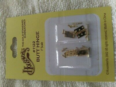 Houseworks dollhouse miniature butt door hinges 1/12 scale  #1122