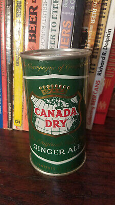 Canada Dry Ginger Ale 12oz Flat Top Soda Can  High Grade!