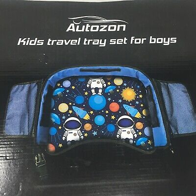 Autozon Kids Travel Tray Set For Boys Auto Activity Organizer NIB