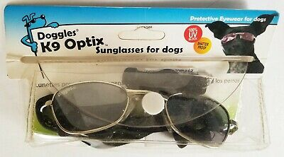 DOGGLES silver frame K9 OPTIX smoke lens SUNGLASSES for DOGS size S